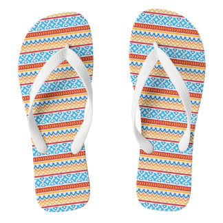 Trendy colorful Boho Pattern Jandals