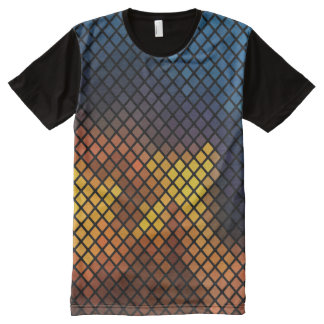 Trendy colorful Mosaic Pattern All-Over Print T-Shirt