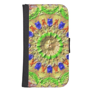 Trendy colorful texture pattern samsung s4 wallet case