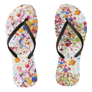 Trendy colourful art  Adult, Slim Straps Jandals