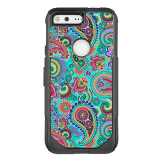 Trendy Colourful Paisley OtterBox Commuter Google Pixel Case
