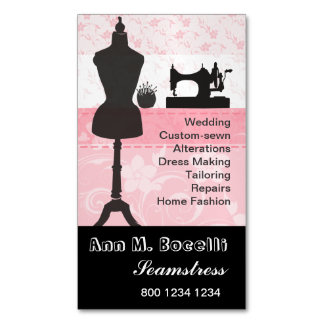 Trendy Crafts Sewing Stylist Mannequin Fashion Magnetic Business Card