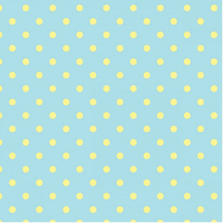 Trendy Cute  Aqua Yellow Polka Dots Pattern Standing Photo Sculpture