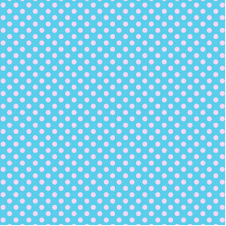 Trendy Cute Girly Pink  Teal Polka Dots Pattern Acrylic Cut Out