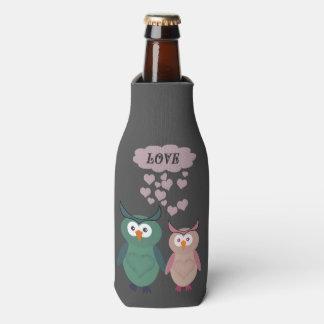 Trendy cute owl love couple