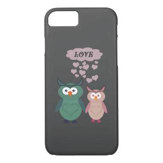 Trendy cute owl love couple iPhone 7 case