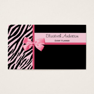 Trendy Event Planner Pink and Black Zebra With Bow