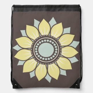 Trendy Floral Pattern Drawstring Bag