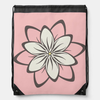 Trendy Floral Pattern Drawstring Bag