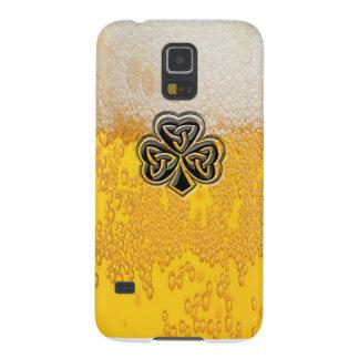 Trendy fun beer Irish lucky shamrock Case For Galaxy S5