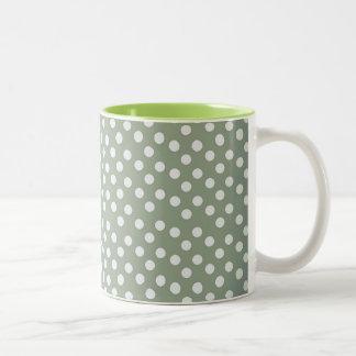 Trendy Girly Abstract Orange Brown Tribal Pattern Two-Tone Coffee Mug
