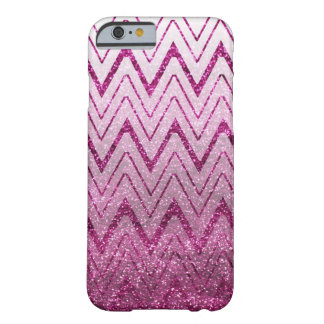Trendy Glittery Purple Chevron Barely There iPhone 6 Case