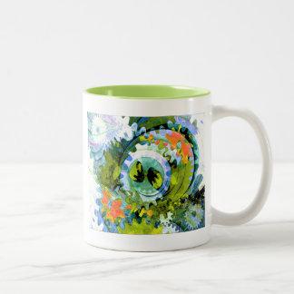 Trendy Goblet Design 005 Two-Tone Coffee Mug