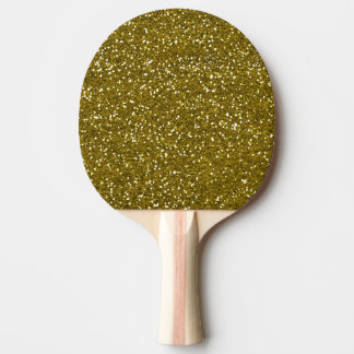 Trendy Gold Glitter Ping Pong Paddle