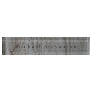Trendy Grey Wall Modern Design Unique Personal Nameplate