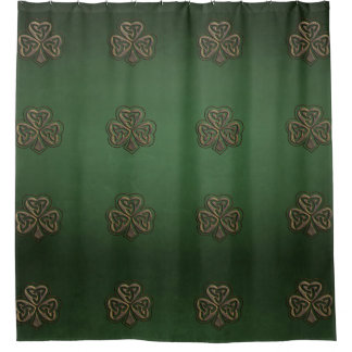 Trendy grundge Irish lucky shamrock Shower Curtain