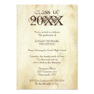 Trendy Grunge Graduation Party Invitation