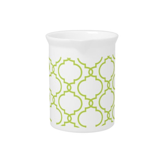 Trendy Lime Green Pattern Pitcher