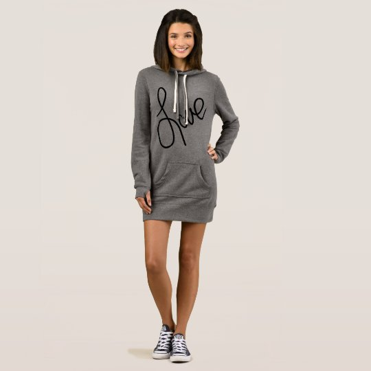 Trendy Love Fashion Sweater Dress