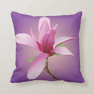Trendy Magnolia Floral art Decorative Throw Pillow Cushion