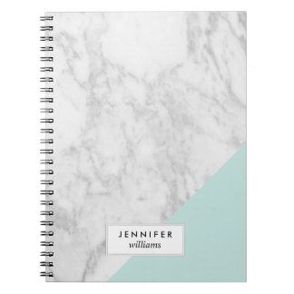 Trendy Marble Texture Spiral Note Book