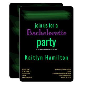 Trendy Minimalist Elegant Spring Green Hen Party Card