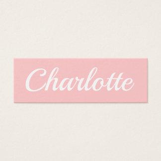 Trendy minimalist modern pastel pink business card