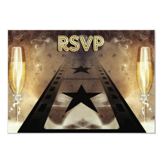 Trendy Movie Themed Wedding Response Card 9 Cm X 13 Cm Invitation Card
