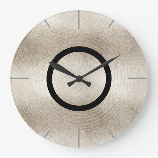 Trendy Music Platinum Record Disc Large Clock