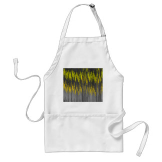 Trendy Neon Yellow  black  ZigZag Chevron Pattern Standard Apron