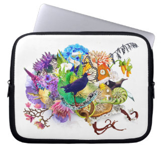 Trendy New Zealand nature themed collage Laptop Sleeve