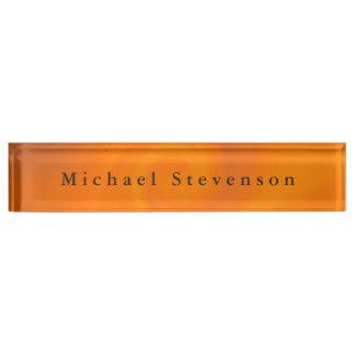 Trendy Orange Modern Design Unique Personal Name Plates