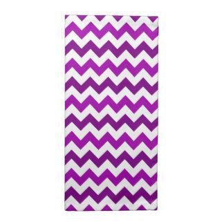 Trendy Orchid Purple Chevron Zigzag Napkin