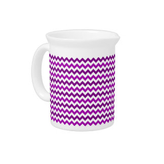 Trendy Orchid Purple Chevron Zigzag Pitcher