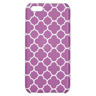 Trendy Orchid Purple Quatrefoil Pattern Cover For iPhone 5C