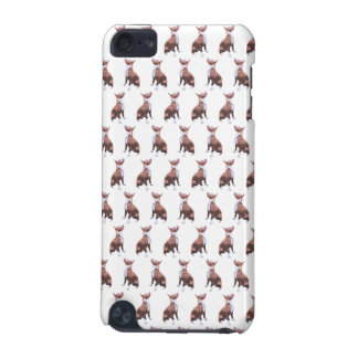 Trendy pattern brown and white Pit Bull dog iPod Touch (5th Generation) Cases