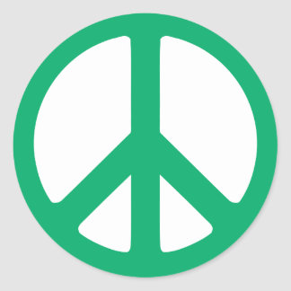Trendy Peace Sign Stickers
