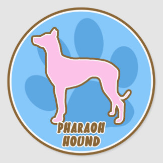 Trendy Pharaoh Hound Classic Round Sticker