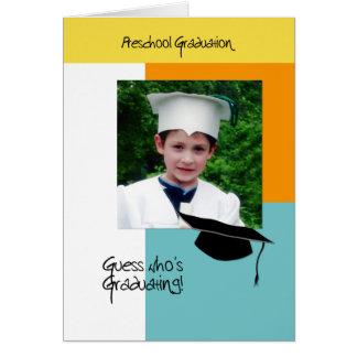 Trendy Photo Preschool Graduation Announcement