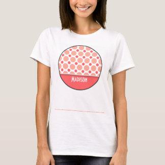 Trendy Pink & Coral Polka Dots T-Shirt
