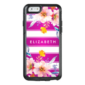 Trendy Pink Floral OtterBox iPhone 6/6s Case