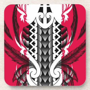 48d897cb1 Trendy pink tattoo designs with polynesian tribals coaster
