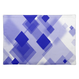 Trendy Placemat Abstract argyle blue white custom
