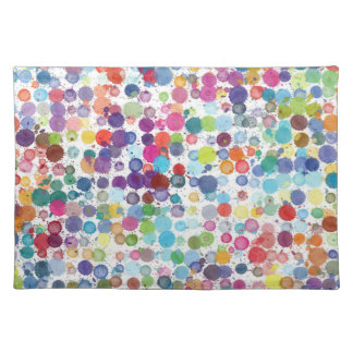 Trendy Placemat Art paint rainbow