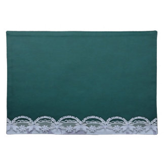 Trendy Placemat green ivory lace look