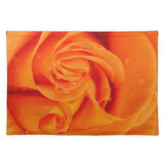 Trendy Placemat Orange rose flower