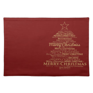 Trendy Placemat red Merry Christmas