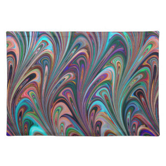 Trendy Placemat Retro funky art abstract pretty