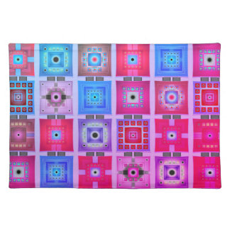 Trendy Placemat Retro funky patch chic work