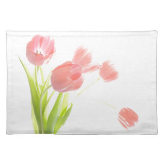 Trendy Placemat retro pink tulip flower